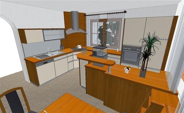 pin k chenbeispiele on pinterest. Black Bedroom Furniture Sets. Home Design Ideas