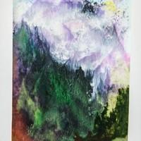 Abklatsch Berge mit Wald