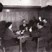 Tarock Partie in der alten Gaststube um 1960