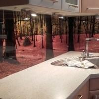 Küchenrückwand mit Glasdruck