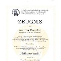 Berufsbezeichnung Heilmasseurin gemäß Medizinischer Masseur- und Heilmasseur- Ausbildungsverordnung (MMHm-AV) BGBl. II Nr. 250/2003