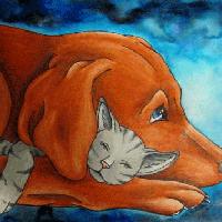 Wasserfarben PrismaColor HundKatz