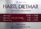 Dr. med. Dietmar Hartl - Facharzt für Innere Medizin