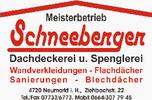Walter Schneeberger Meisterbetrieb Dachdeckerei u. Spenglerei