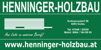 HENNINGER Holzbau, Holzbau, Zimmereibedarf, Zellulosedämmung und Baustoffe vom Holzbaumeister in Gutau bei Freistadt.