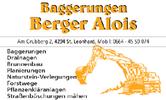 Baggerungen BERGER Alois, Baggerungen, Drainagen, Brunnenbau, Planierungen, Naturstein-Verlegungen, Forstwege, Pflanzenkläranlagen und Straßenböschungen mähen in St. Leonhard bei Freistadt.