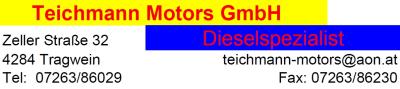 TEICHMANN MOTORS, Dieselspezialist in Tragwein im Bezirk Freistadt.