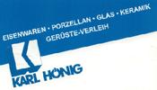 Karl Hönig  Eisen - Eisenwaren - Farben