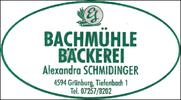 Alexandra Schmidinger Bäckerei u. Mühle