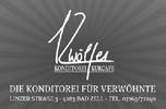 KURCAFE-KONDITOREI ZWÖLFER, Kaffeekonditorei, hausgemachte Mehlspeisen und Eisspezialitäten in Bad Zell im Bezirk Freistadt.
