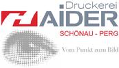 Betrieb Schönau (Druckerei HAIDER in Schönau im Bezirk Freistadt und Perg.)