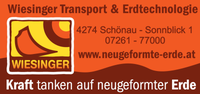 WIESINGER Transport & Erdtechnologie, Aussengestaltungen, Baggerungen, Transporte, Baustoffe in Schönau im Bezirk Freistadt.