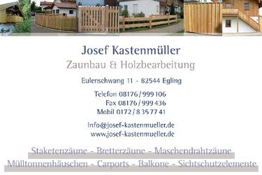 Josef Kastenmüller Zaunbau & Holzbearbeitung