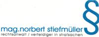 Rechtsanwalt Mag. Norbert Stiefmüller Verteidiger in Strafsachen