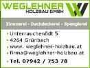 Holzbau WEGLEHNER, Holzbau-Meister in Freistadt.