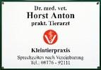 Dr. med. vet. Horst Anton Prakt. Tierarzt