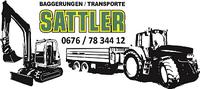 Baggerungen / Transporte Sattler