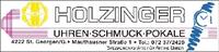 HOLZINGER Uhren, Schmuck, Pokale, Spezialwerkstätte für antike Uhren.