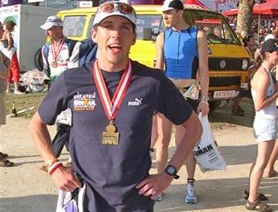 Betreuung eines Triathleten beim Klagenfurter Ironman durch Gerhard Riedlsperger