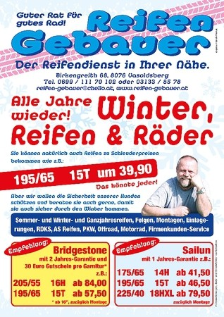 AKTION ! Winterreifenangebote
