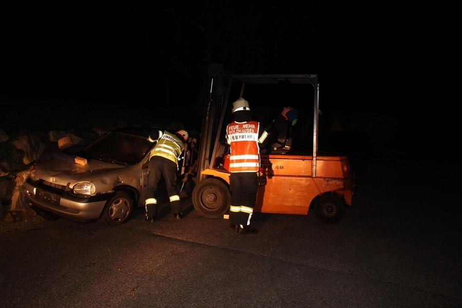 Übung: Verkehrsunfall Eingeklemmte Person