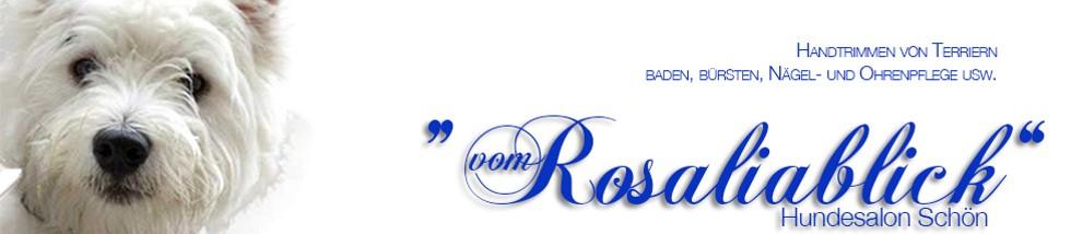 rosalia hundesalonbanner