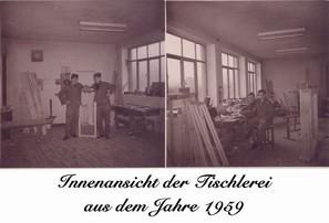 Tischlerei   innen 1959