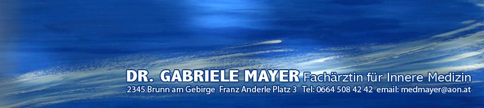 Dr. Gabriele Mayer - Fachärztin für Innere Medizin