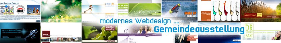 banner webdesign - gemeindeausstellung