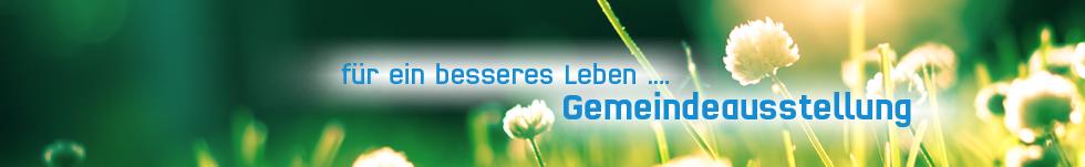 banner besser leben - gemeindeausstellung