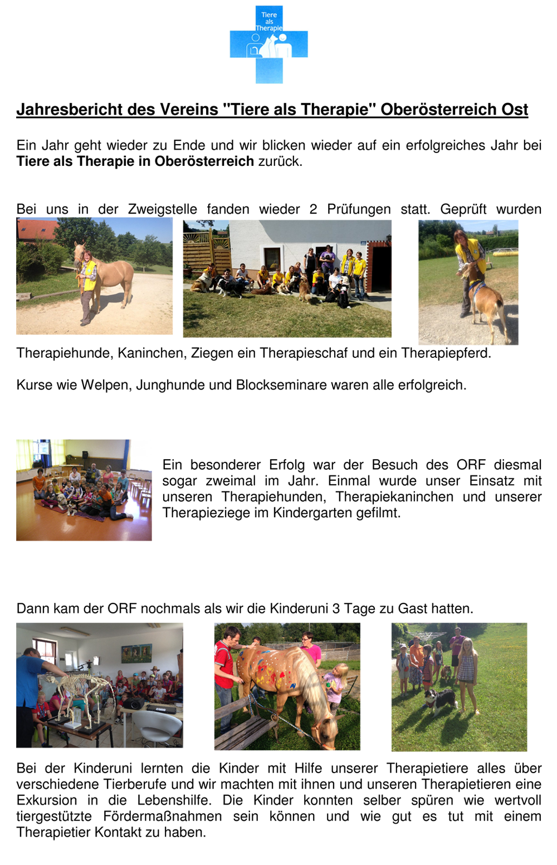 Bericht der Zweigstelle Oberösterreich Ost 1