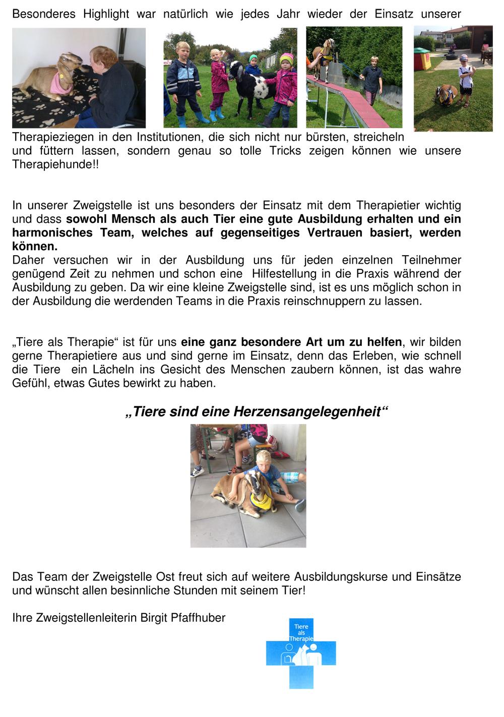 Bericht der Zweigstelle Oberösterreich Ost 2