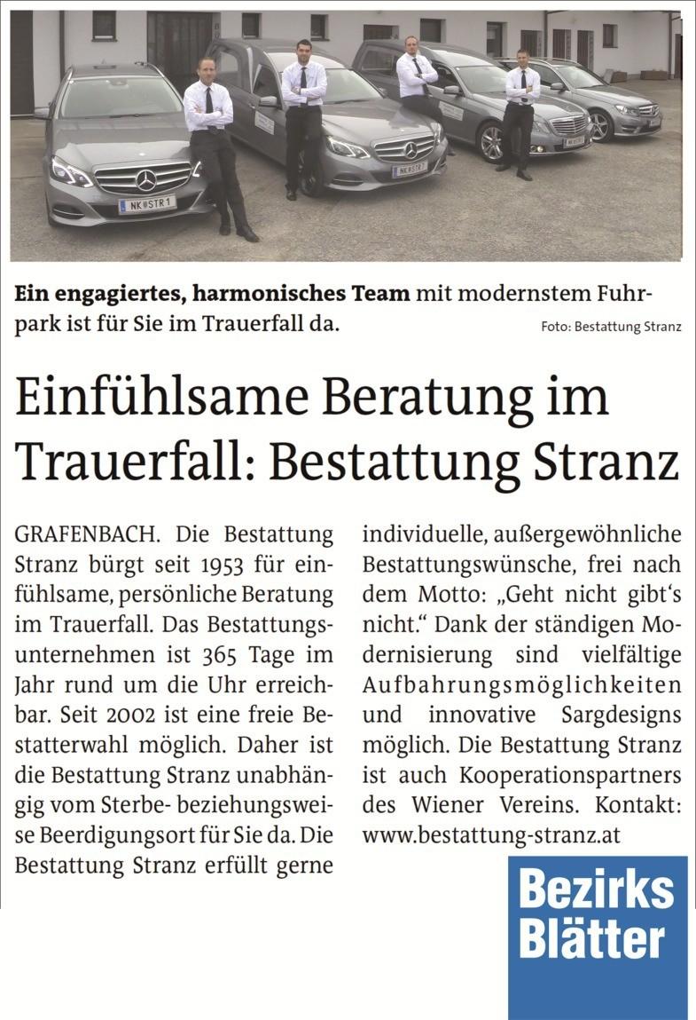 Bezirksblatt Schaukasten