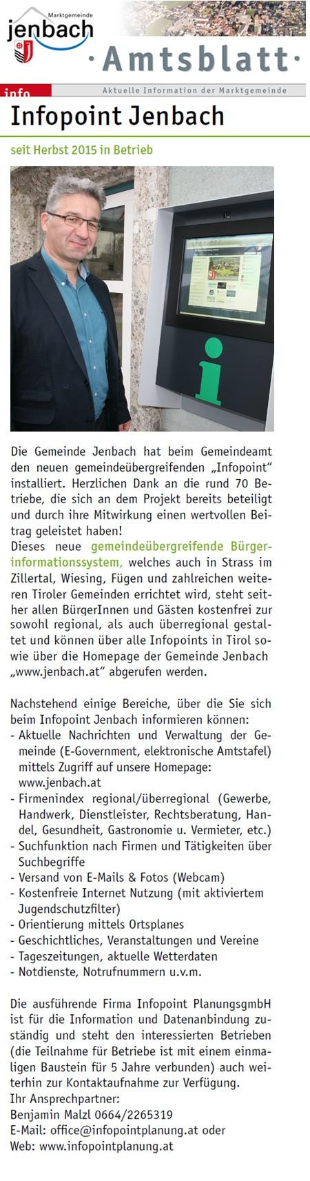 Inbetriebnahme Jenbach