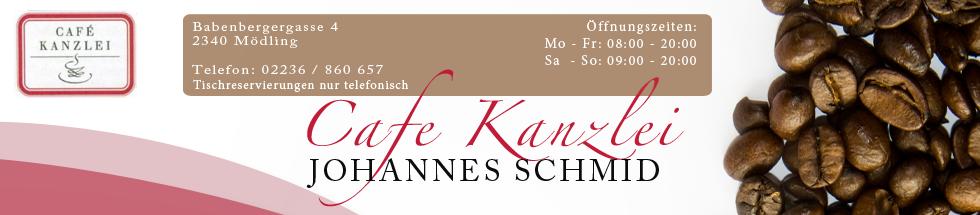 Cafe Kanzlei   Johannes Schmid Banner