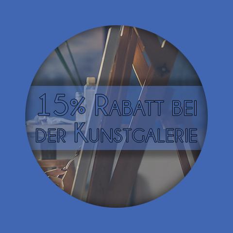 15 Prozent Rabatt in unserer Kunstgalerie