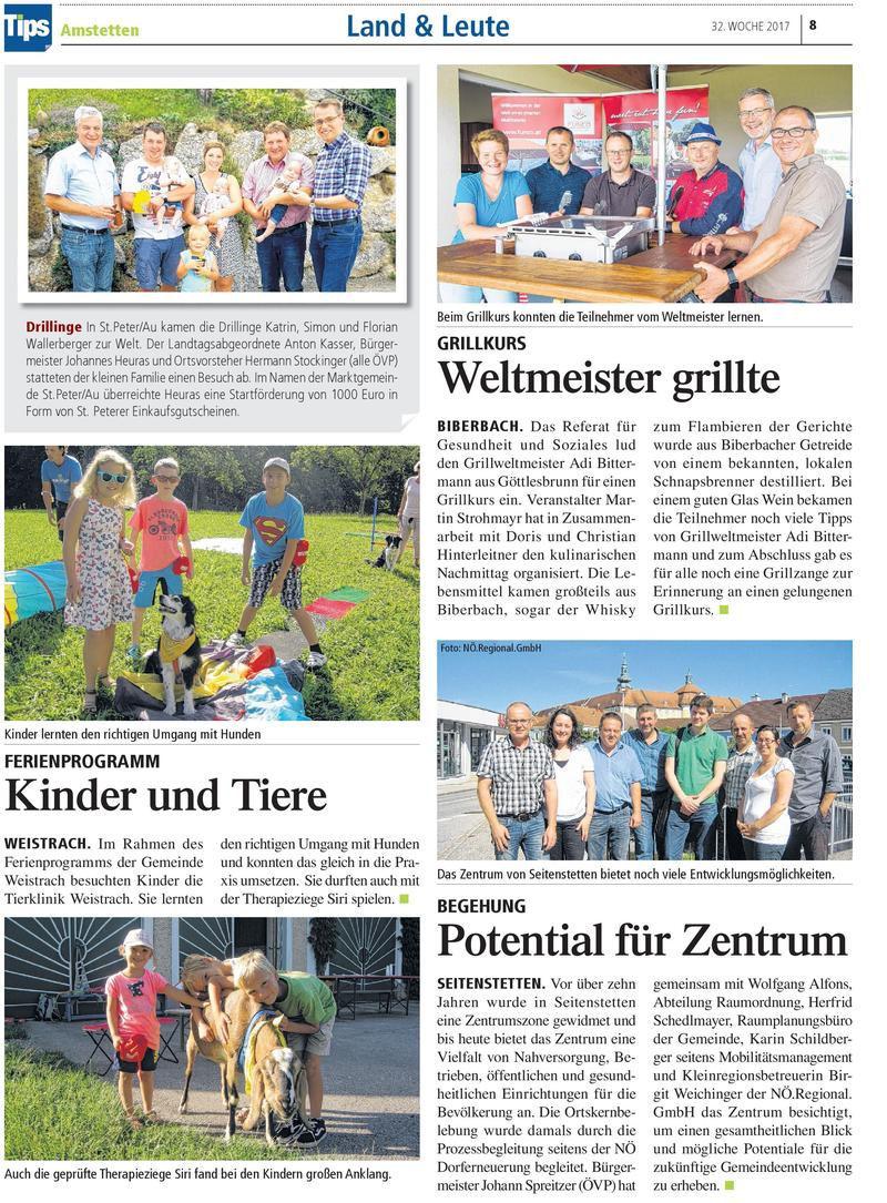 Tips Amstetten August 2017
