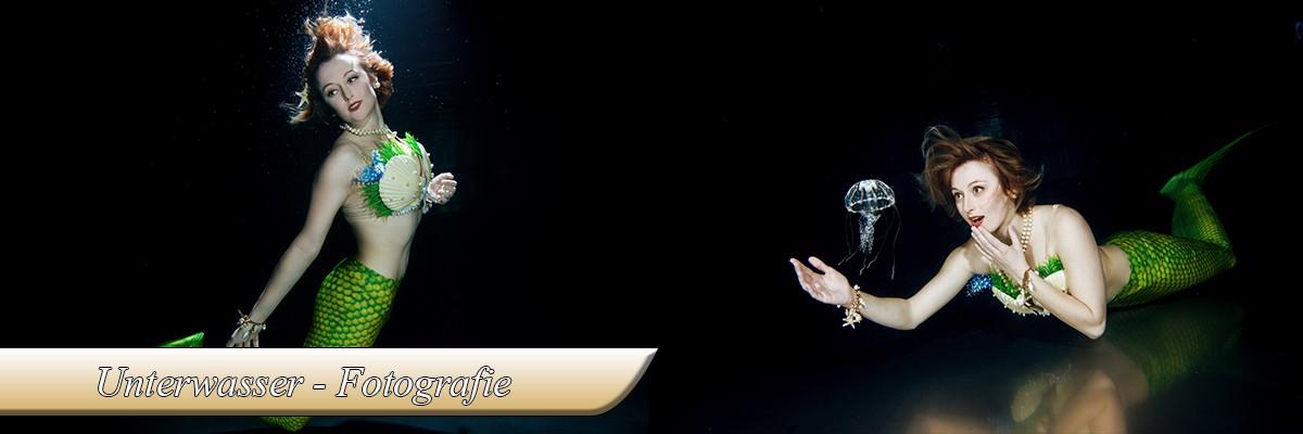 Unterwasser - Meerjungfrau -Fotografie