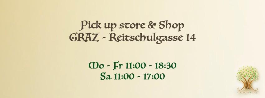 energetik.shop  Pick up store & Shop Reitschulgasse 14 8010 Graz  Mo - Fr 11:00 - 18:30 Sa. 11:00 - 17:00