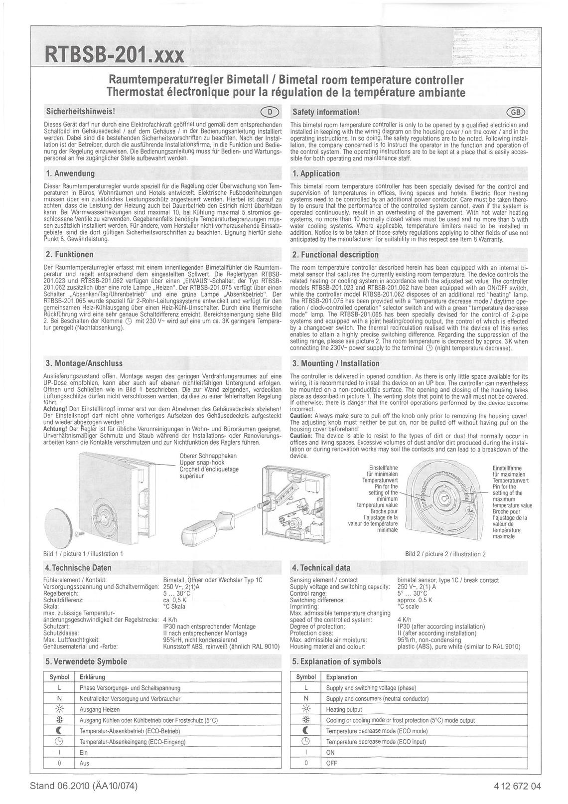 Raumthermostat 230V