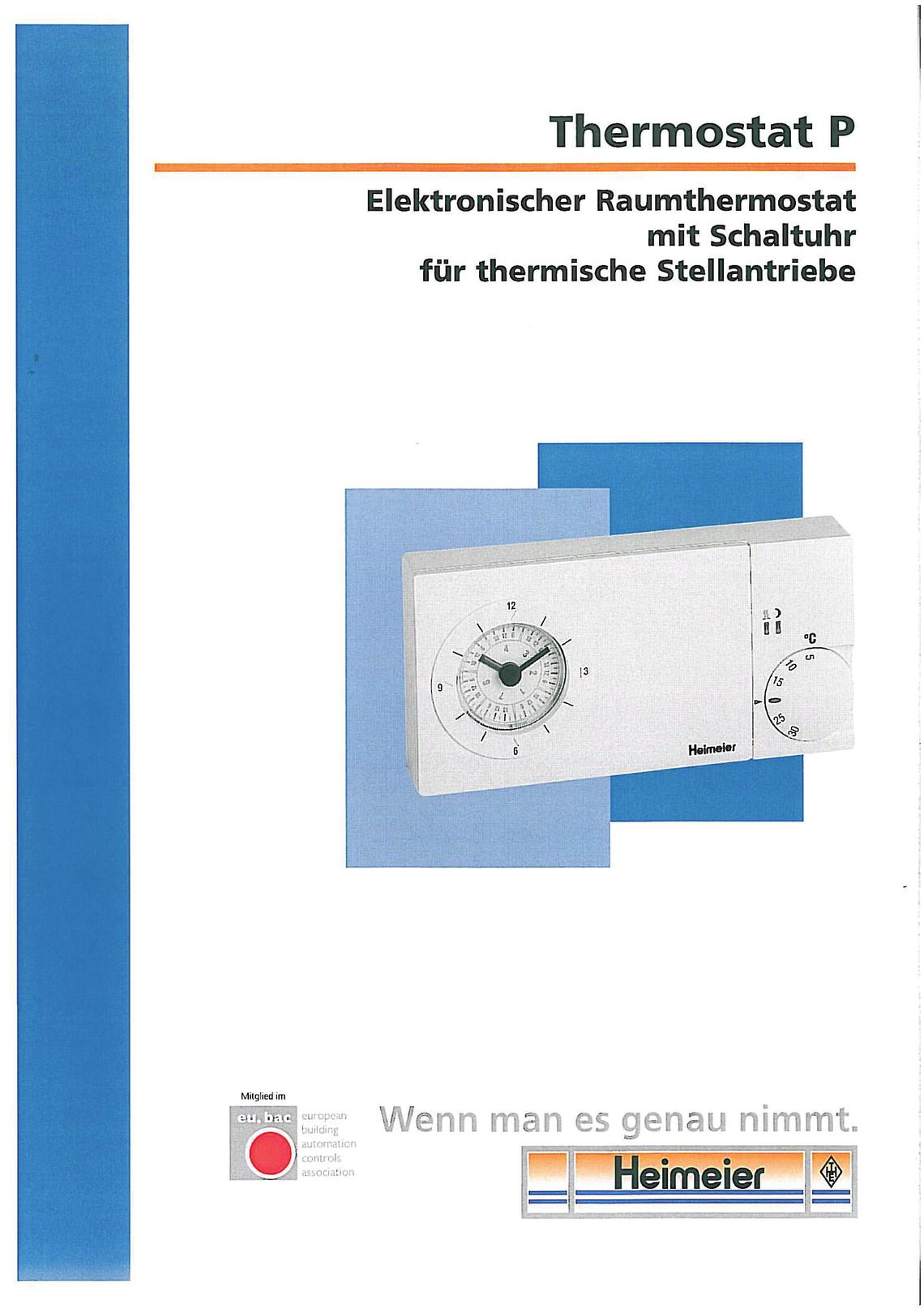 Raumthermostat Heimeier P