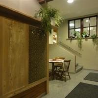 Atrium vom Extrazimmer zur Kegelbahn