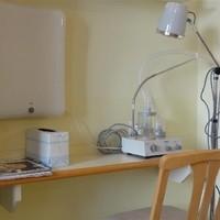 Lichttherapie und Aerosol-Inhalation