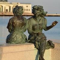 Frau in Bronze in Triest