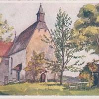 Ansichtskarte von 1928, 1398-1423 Erbauung der Bergkirche St. Magdalena