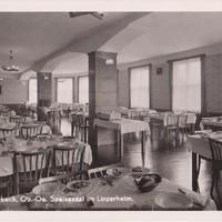 Speisesaal im Linzerheim 1957,  Arbeitsplatz Mama von 1959-1971