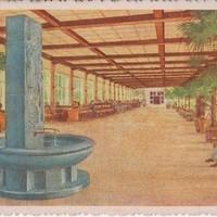 Ansichtskarte 1957, Wandelhalle - Aquarell von Franz Martinak