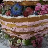 Naked Cake Kornblumen