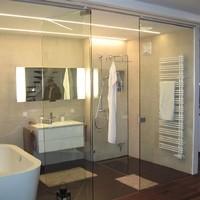 Badezimmer Naßzelle aus Glas