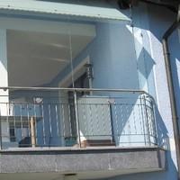 Balkon Glaswindfang